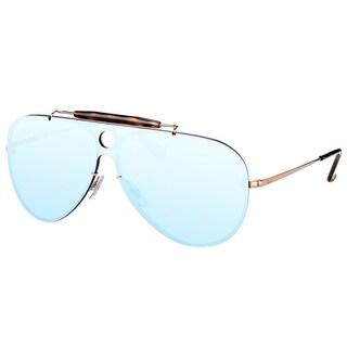 Ray-Ban Aviator RB 3581N 90351U Unisex Copper Frame Dark Violet Silver Mirror Lens Sunglasses