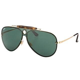Ray-Ban Aviator RB 3581N 001/71 Unisex Arista Frame Green Lens Sunglasses