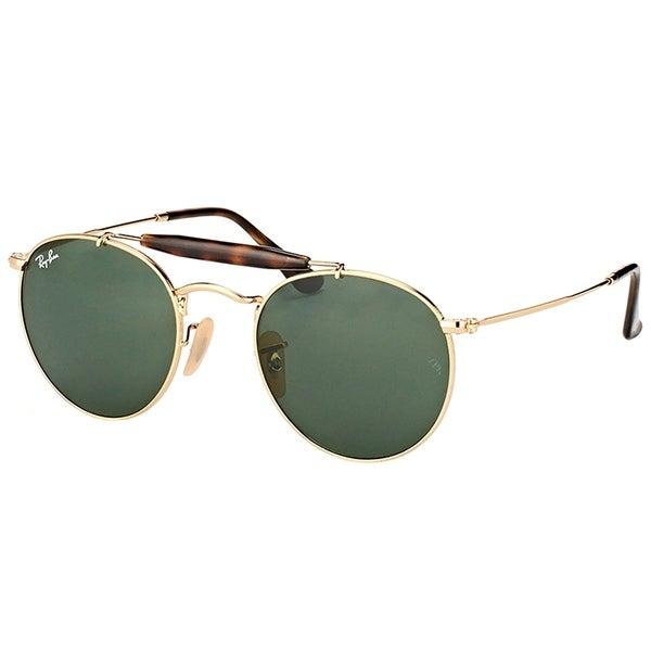 0e42704d26 Ray-Ban Round RB 3747 001 Unisex Arista Frame Green Lens Sunglasses