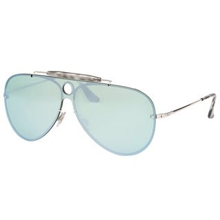 Ray-Ban Aviator RB 3581N 003/30 Unisex Silver Frame Dark Green Silver Mirror Lens Sunglasses