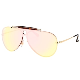 Ray-Ban Aviator RB 3581N 001/E4 Unisex Gold Frame Pink Mirror Lens Sunglasses