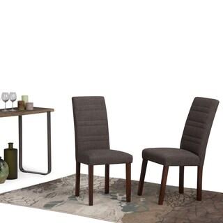 Wyndenhall Augustus Midnight Grey Fabric/Wood Dining Chair (Set of 2)