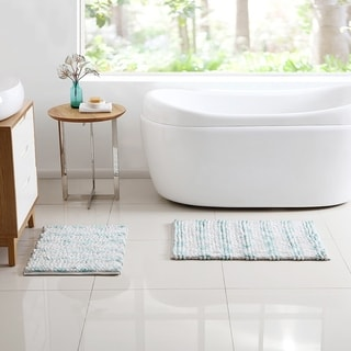 VCNY Home Selena Cotton Blend Loop Cut Pile 2-piece Bath Rug Set