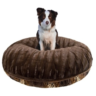Bessie and Barnie Bagel Bed Godiva Brown/ Wild Kingdom