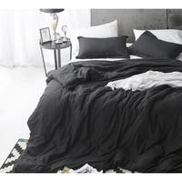 Duvet Cover Black Supersoft Bedding