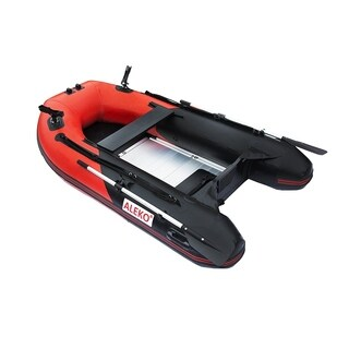 "ALEKO Inflatable 8' 4"" with Aluminum Floor 3 Prs Raft Fishing PRO Boat"