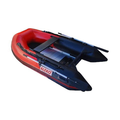 """ALEKO Inflatable 8' 4"""" with Aluminum Floor 3 Person Raft Fishing Boat - 8.4 ft"""