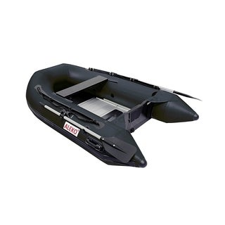 """ALEKO Inflatable 8' 4"""" with Aluminum Floor 3 Person Raft Fishing Boat"""