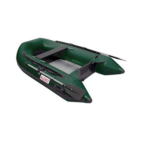 "ALEKO Inflatable 8' 4"" with Aluminum Floor 3 Person Raft Fishing Boat - 8.4 ft"