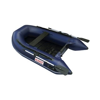ALEKO 3 Person Inflatable Boat 8.4 Ft with Pre-Installed Slide Floor