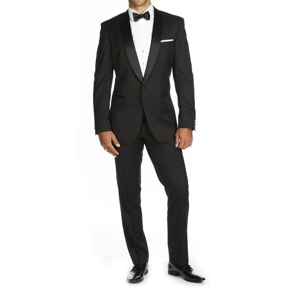 Braveman Men's Slim Fit Shawl Lapel Runway Tuxedo