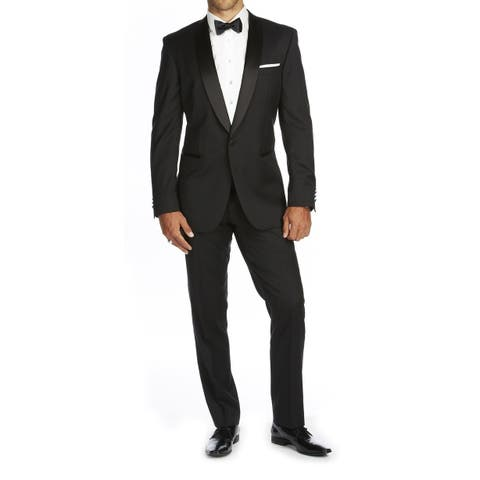 Braveman Men's Slim Fit Shawl Lapel Runway Tuxedo