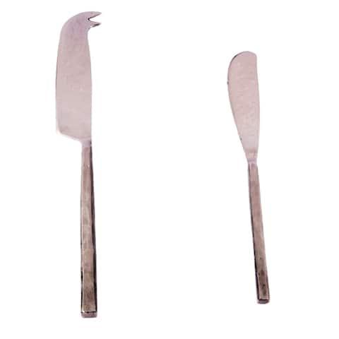 Inox Jason Design 2-piece Nascent Steel Cheese Knife/Spreader Set