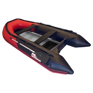 ALEKO Inflatable 12.5' with Aluminum Floor 6 Person Raft Fishing Boat