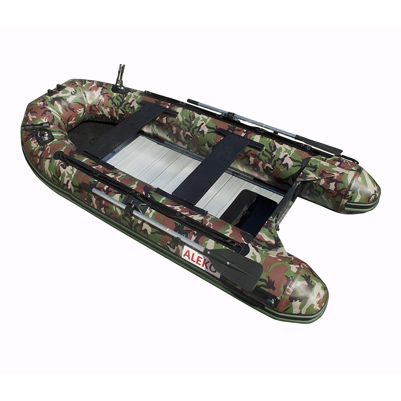 Aleko Inflatable 10.5' with Aluminum Floor 4 Prs Raft Fis...