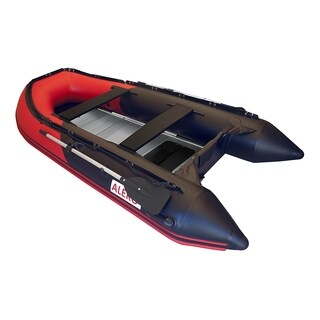 ALEKO Inflatable 10.5' with Aluminum Floor 4 Person Raft Fishing Boat