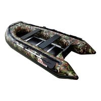 ALEKO 4 Person Fishing Raft Inflatable Boat 10.5' with Wooden Floor