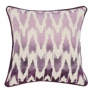 Neva Purple Linen 22-inch Square Down and Feather Throw Pillow