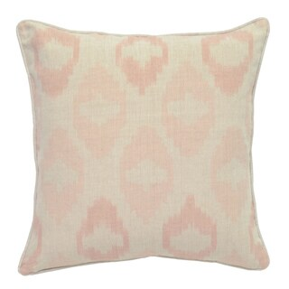 Fae Pink Blush Linen 22-inch Square Down and Feather Throw Pillow