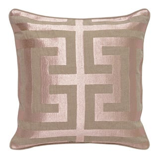 Capital Metallic Pink Linen 22-inch Square Down and Feather Throw Pillow