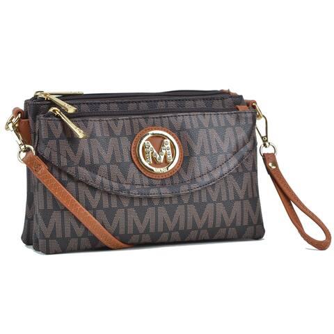 Milan Monogram Logo Multi compartment Crossbody Handbag