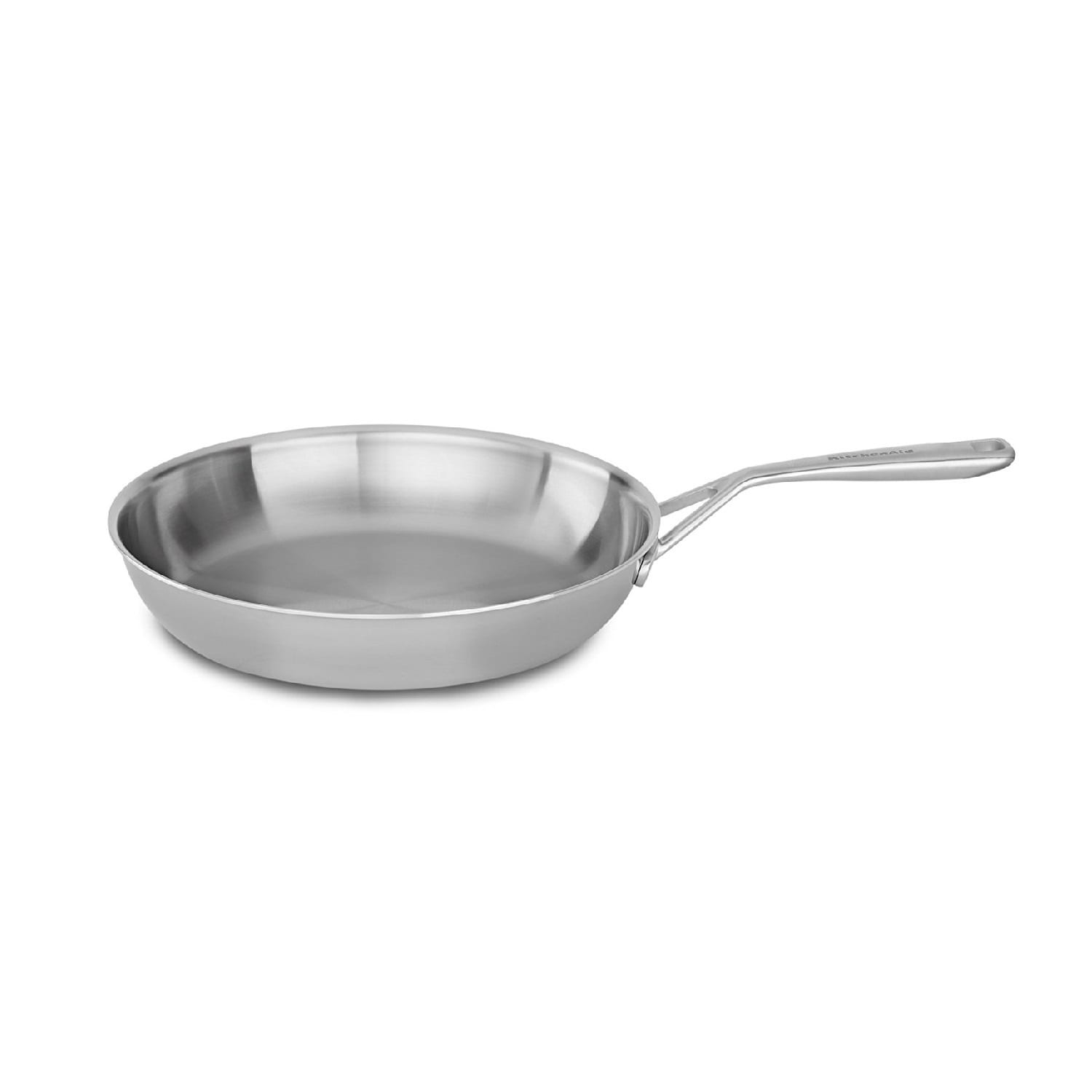 KitchenAid 12 Tri-Ply Stainless Steel Non-Stick Skillet | eBay on rachael ray pots and pans, hello kitty pots and pans, big lots pots and pans, pink kitchen pots and pans, cuisinart pots and pans, meijer pots and pans, macy's kitchen pots and pans, paula deen pots and pans, pink play pots and pans, kitchenaid gourmet essentials brushed stainless, forever quality pots and pans,
