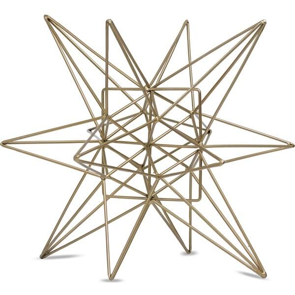 American Art Decor Metal Star Figurine Table Top Decor Sculpture (Medium)