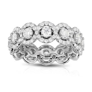 Noray Designs 14K White Gold Diamond (2.55 Ct, G-H Color, SI2-I1 Clarity) Eternity Wedding Ring - White G-H