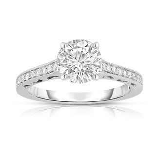 Noray Designs GIA Certified 14K Gold Diamond (1.18 Ct, G Color, SI2 Clarity) Engagement Ring - White