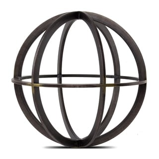 American Art Decor Metal Orb Dyson Sphere Decor Sculpture (Medium)