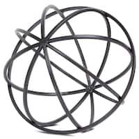 Metal Orb Dyson Sphere Decor Sculpture (Large)