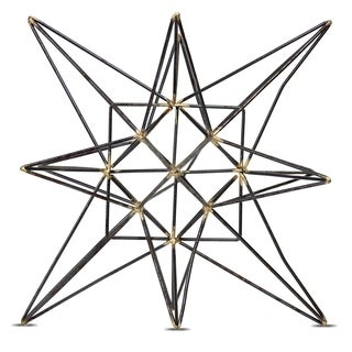 "Metal Star Figurine Table Top Décor Sculpture (Small) 5.91"" x 5.91"" x 6.1"""