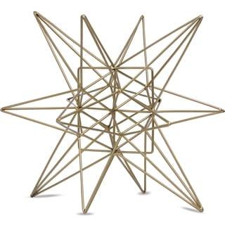 "Metal Star Figurine Table Top Décor Sculpture (Large) 8.86"" x 8.86"" x 9.84"""