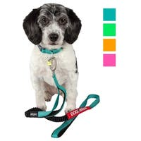 Dog Helios Neo-Indestructible Easy-Tension Sporty Embroidered Thick Durable Pet Dog Leash And Collar