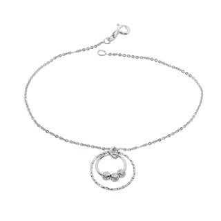 Eternally Haute Italian Solid Sterling Silver 1 Circle Drop Bracelet
