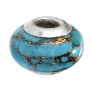 Michael Valitutti Palladium Silver Turquoise Slide-on Charm