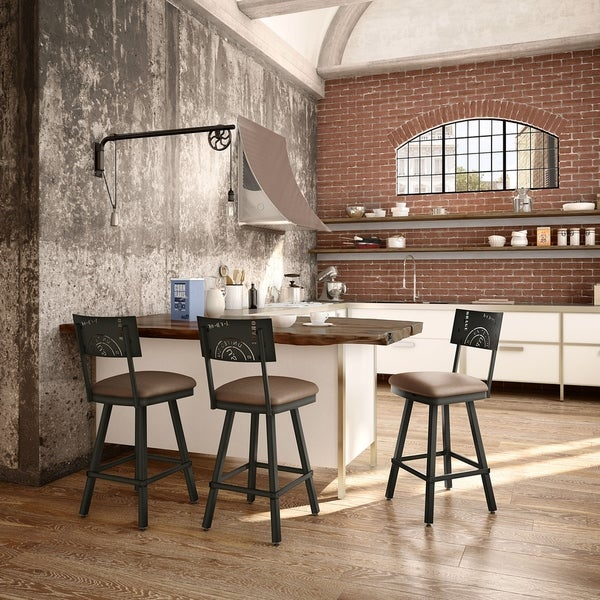 Shop Carbon Loft Kettering Swivel Metal Stool On Sale