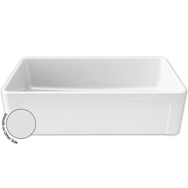 Crestwood White Fireclay 36 Inch Reversible Apron Farmhouse Sink