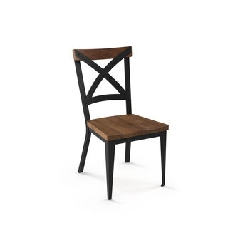 Amisco Jasper Metal Chair with Wood Seat