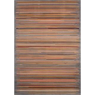eCarpetGallery Chroma Grey Rug (5'3 x 7'6)