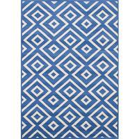 """eCarpetGallery Chroma Blue Rug - 5'5"""" x 7'8"""""""