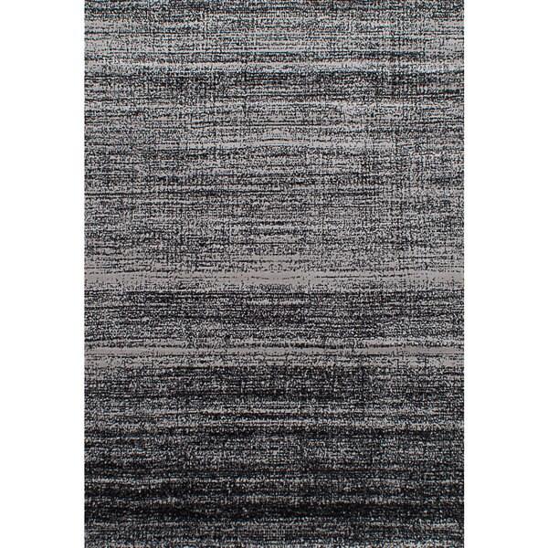 """eCarpetGallery Chateau Black, Grey Rug (5'5 x 7'9) - 5'5"""" x 7'9"""""""