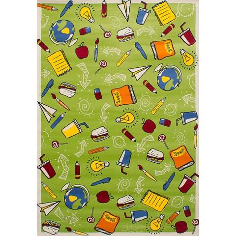 "eCarpetGallery Chroma Green Rug (5'5 x 7'8) - 5'5"" x 7'8"""