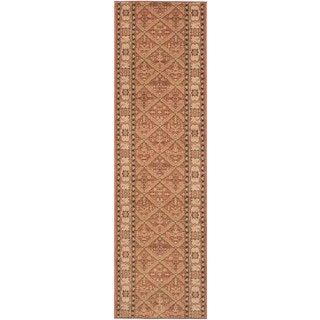 eCarpetGallery Lotus Garden Btor Brown  Rug (2'8 x 10'0)