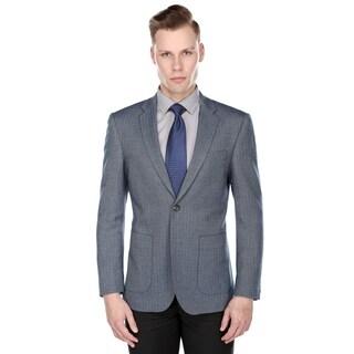 Gino Vitale Men's Slim Fit Herringbone Blazer