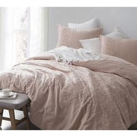 BYB Baroque Stitch Comforter - Ice Pink/Fawn Embroidery