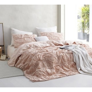 BYB Motley Texture Comforter - Peach/Pink