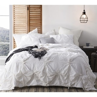 BYB Knots - Handcrafted Texture Ties Comforter - White
