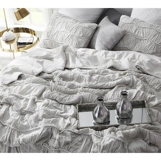 BYB Motley Texture Comforter - Light Gray