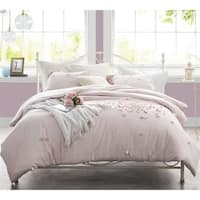 Petals Handsewn Duvet Cover - Soft Ice Pink